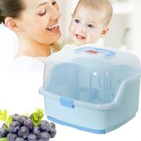 Baby Portable Bottle Drying Racks With Anti dust Cover Large Nursing Bottle Storage Box