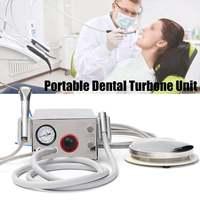 1 Set Portable Dental Turbines Unit Work 3 Way Syringe 4 Hole Air Control Oral Straw Irrigator Teeth Whitening Tool Kit