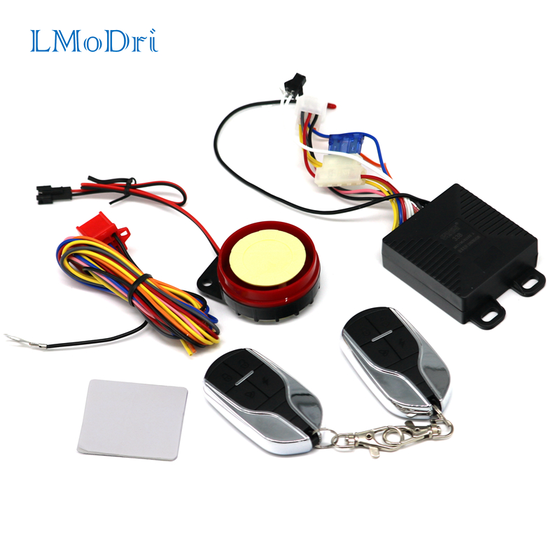 LMoDri Free Shipping New Universal Motorcycle E-bike Security Alarm System Theft Protection Remote Control Engine Start