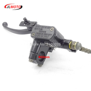Image 3 - Left Hand Rear Master Cylinder 7/8 Handlebar Hydraulic Brake Lever With Parking Brake & Stop Switch Fit For ATV Quad Bike Parts