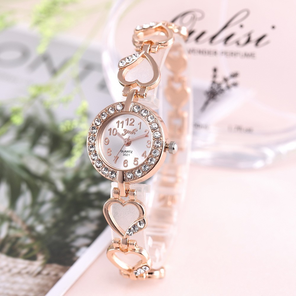 Bracelet Watch Diamond Rose-Gold Feminino Reloj Ladies Brand Luxury Mujer