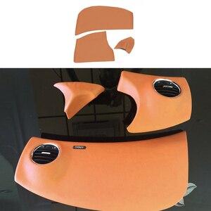Image 4 - マイクロファイバー革インテリアカースタイリングドアアームレスト/センターダッシュボードパネルカバーシボレークラシッククルーズ 2009 2015