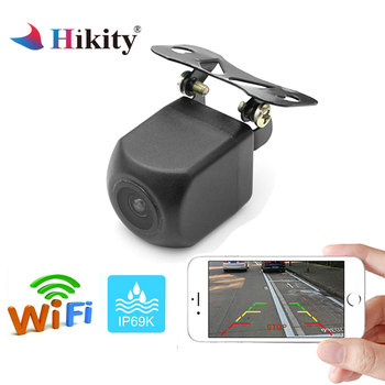 Hikity WIFI 車のリアビューカメラ金属ボディバックミラーカメラ駐車場モニターミニ駐車場ナイトビジョンバックアップカメラ