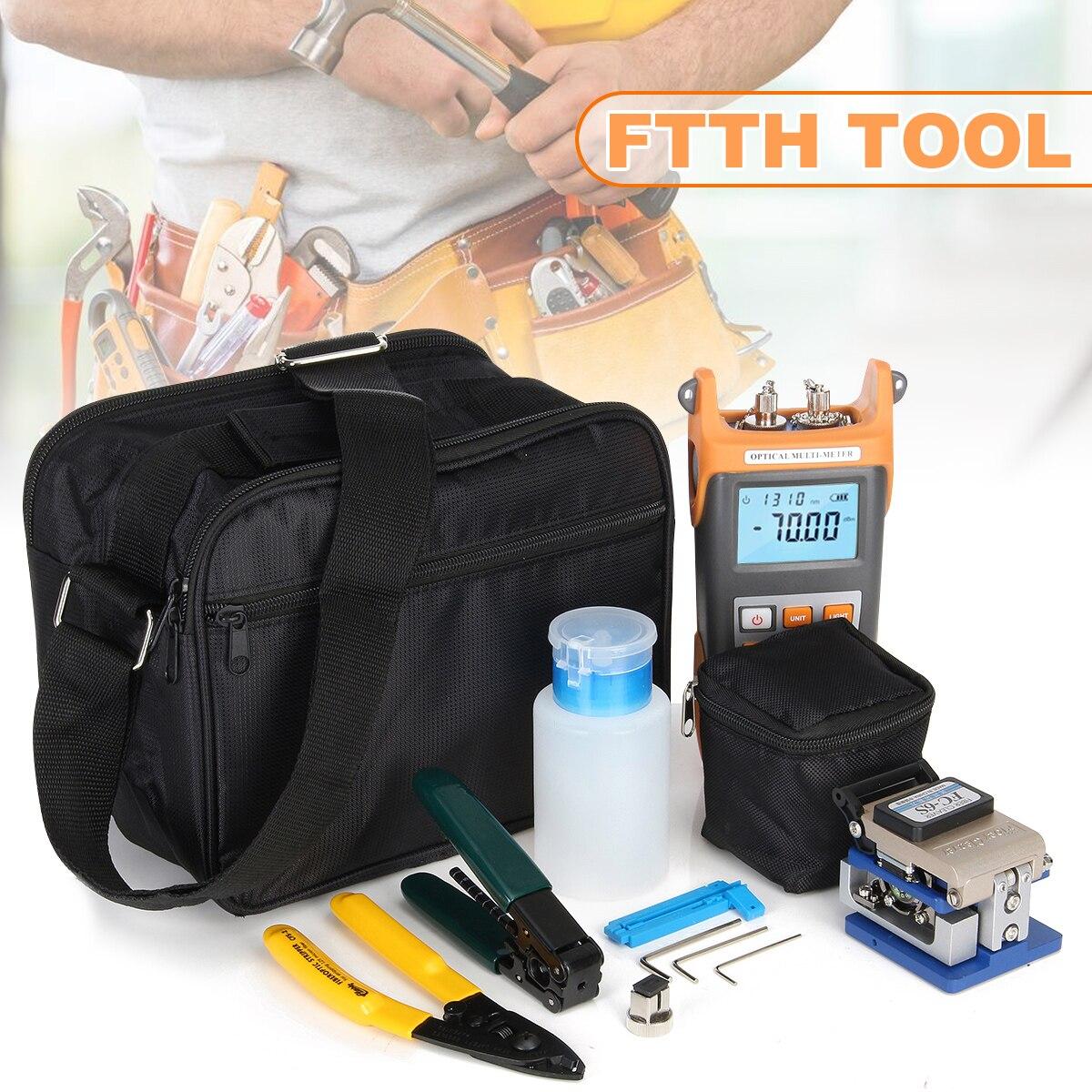 Für SGV305 Faser Ftth Tool Kit Fiber Cleaver Optische Power Visuelle Finder Locator Draht stripper