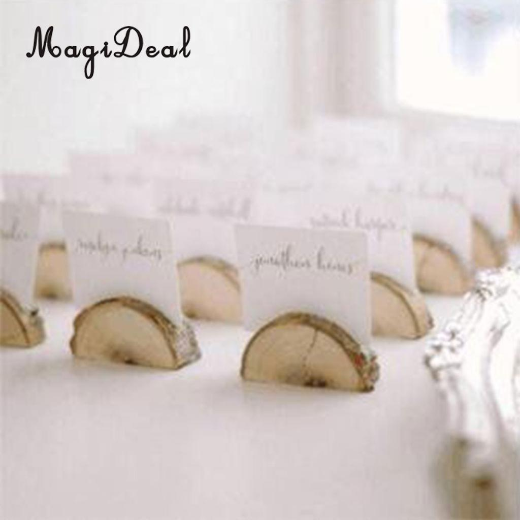 Rustic Wood Place Card Holder Party Wedding Table Name Card Holder Aliexpress