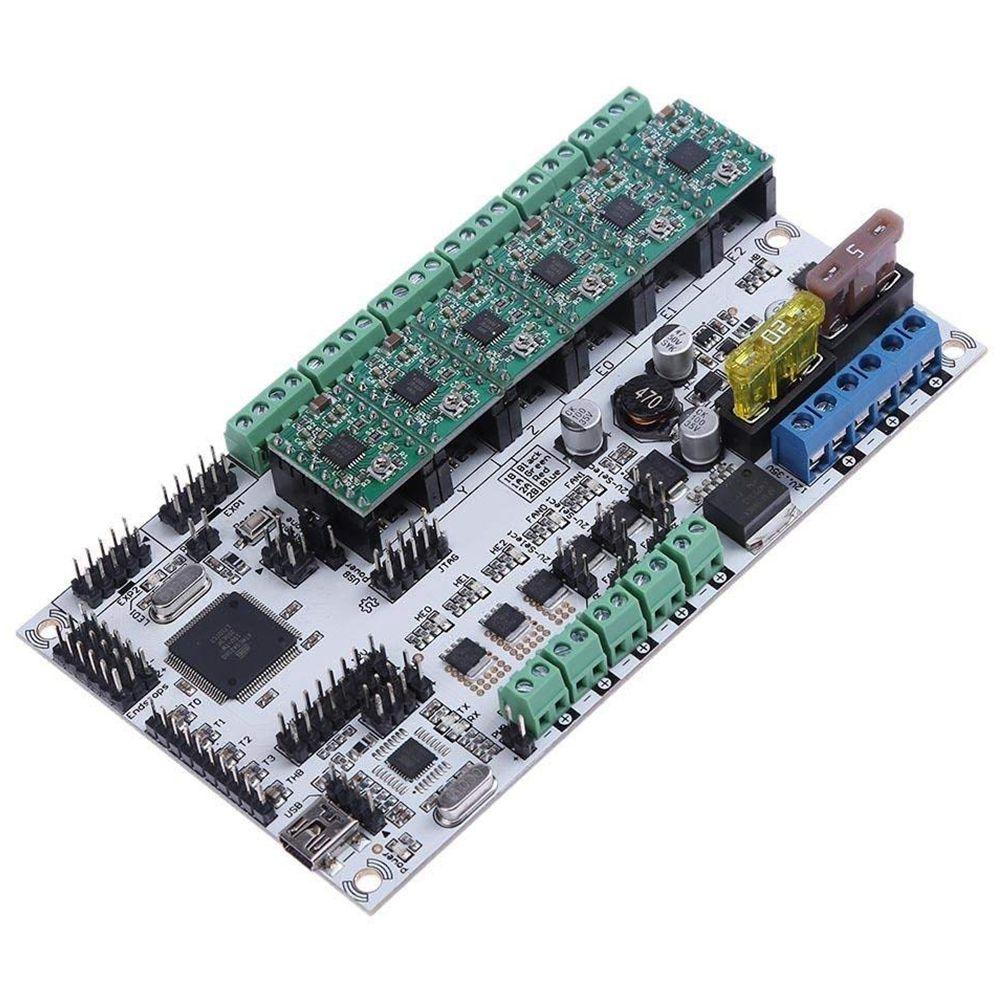 купить Rumba Plus Motherboard with 6pcs A4988 Stepping Drivers for 3D Printer Kits недорого