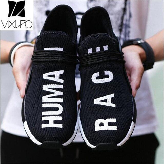 26c1c4db2c643 Vixleo Casual Shoes Men Unisex Red White Black Tenis Designer Mesh Luxury  Breathable Human Race Trainers