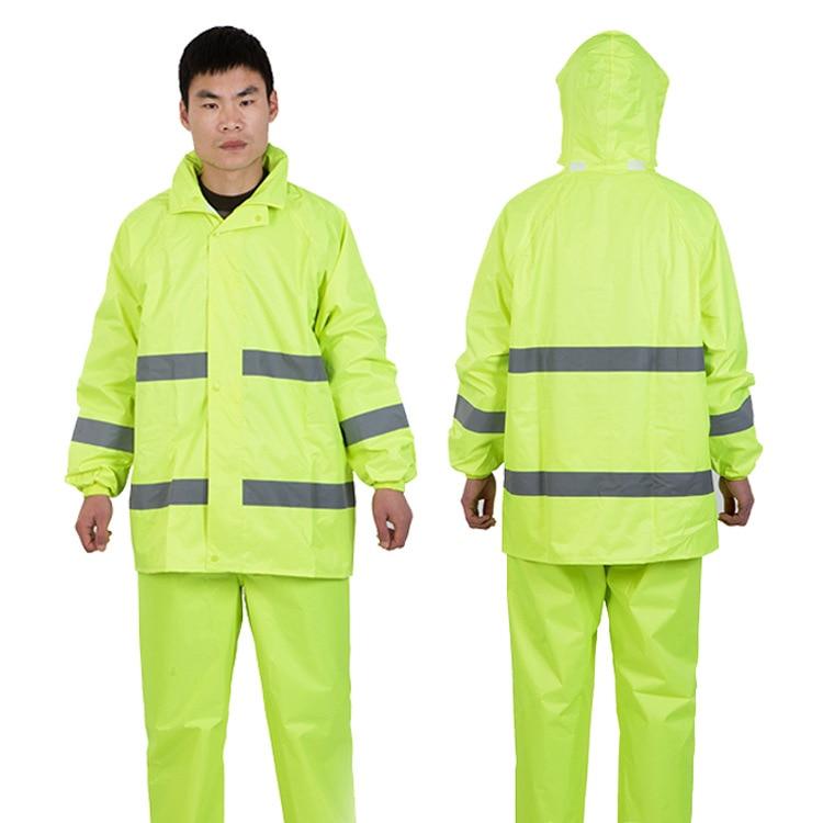 Outdoor Work Sanitation Raincoat ye guang tiao Split Electric Car Motorcycle Raincoat Rain Pants Set Manufacturer Direct