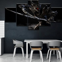 Modular 5 Piece Canvas Art Elder Scrolls V Skyrim Game Poster Paintings on Wall for Home Decorations Decor