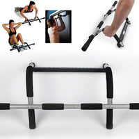 Drzwi podbródek poziomy bary stalowe 110kg regulowana domowa siłownia trening Push Up sport treningowy Fitness przysiady sprzęt HWC