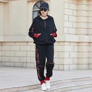 Image 5 - Max LuLu 2019 Luxus Koreanische Kleidung Damen Fitness Schweiß Anzüge Frauen 2 Stück Set Frühling Outfits Trainingsanzug Frau Tops Und hosen