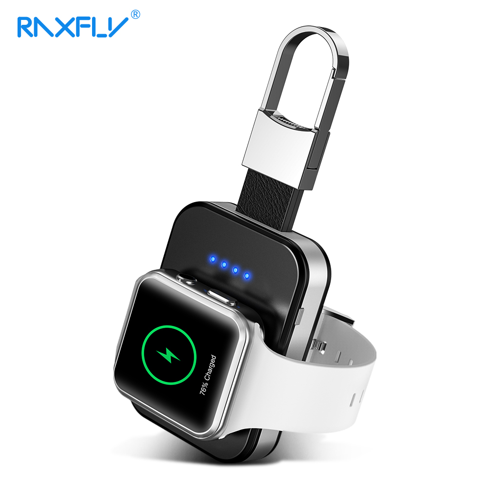 RAXFLY 950mah Power Bank Wireless Fast Charger For Apple i Watch Series 2 3 4 Dock Charging Portable Wireless Charger For Apple in Mobile Phone Chargers from Cellphones Telecommunications