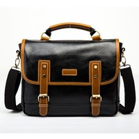 Fashion Men Handbags Leather Single Shoulder Satchel Messenger Crossbody Bag Travel Torebki Damskie Vintage Bolso Hombre Obag