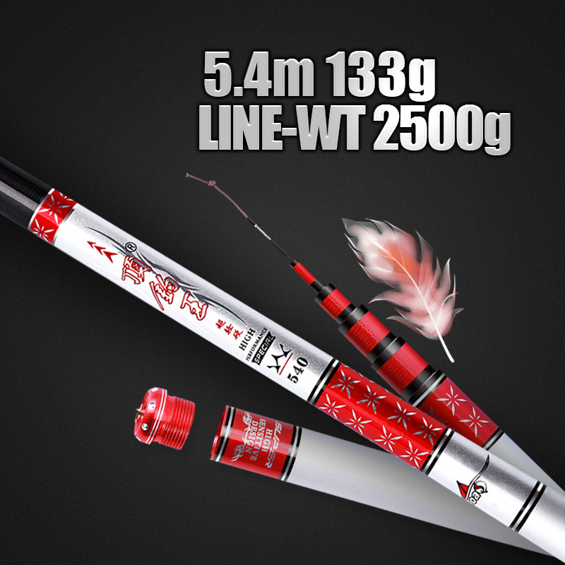 Image 2 - THEKUAI High Carbon Material SuperHard Fishing Rod 3.6 8.1M Telescopic Rod Sea fishing Rod Taiwan Fishing Rod For big carp Fish-in Fishing Rods from Sports & Entertainment