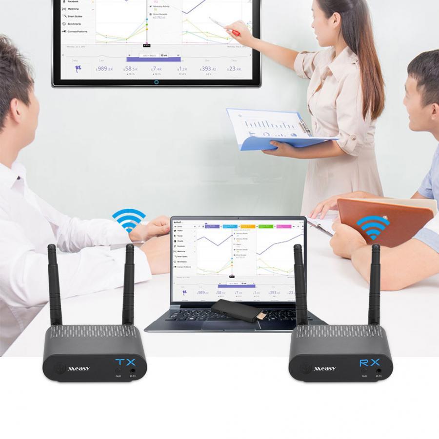 Measy Air Pro 100 м/330FT 2,4 ГГц/5,8 ГГц Беспроводной Wi Fi HDMI Аудио Видео удлинитель передатчик Отправитель приемник комплект с ик сигнала