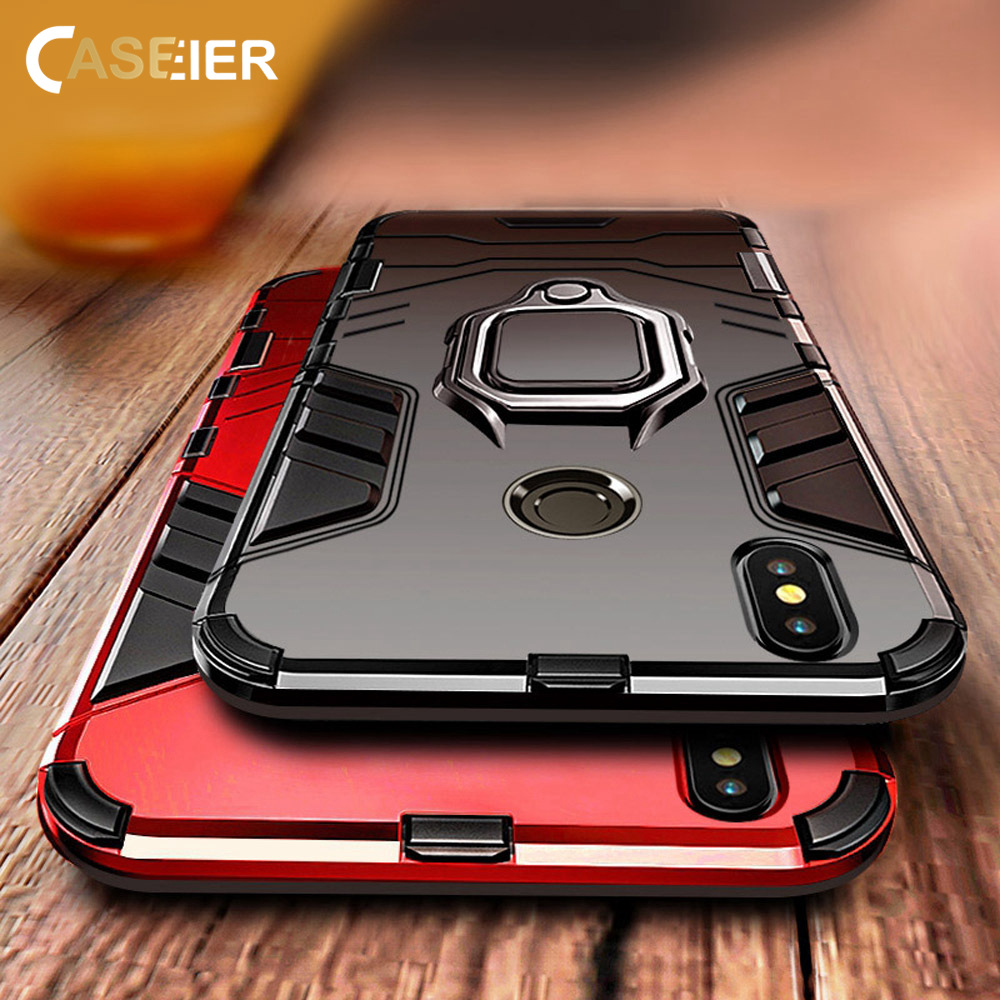 8351183ad CASEIER Armor Shockproof Case For Xiaomi Redmi Note 5 4X6 3 6A Pro With  Finger
