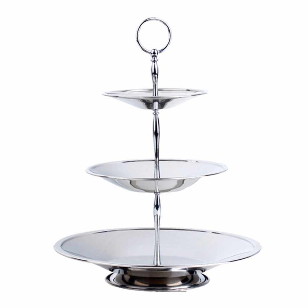 3 Tier Heart shape Cake Fruit Metal Plate Stand Fitting Hareware Handle Kitchen Accessories