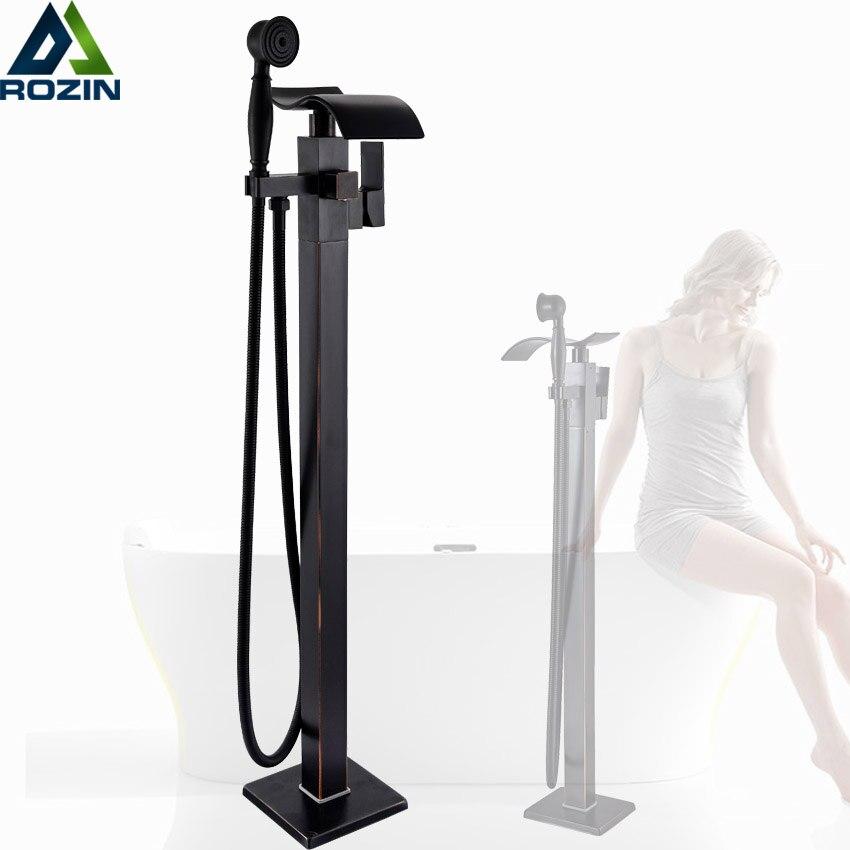Best Quality Bathtub Mixer Faucet Floor Mounted Waterfall Tub Sink Faucet Single Handle Bath Shower Set