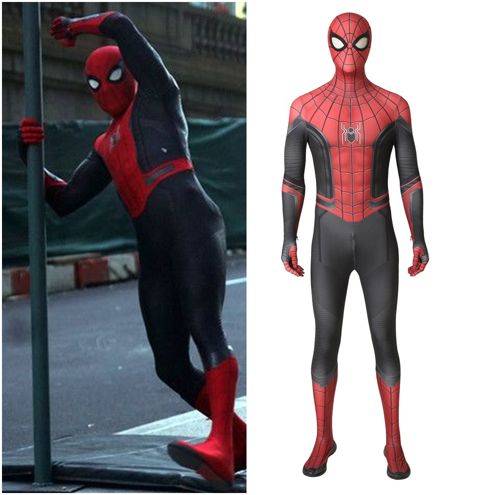 Spider Man: Far From Home Peter Parker Cosplay Costume 3D Printed Complex Version