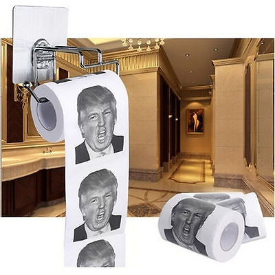 Donald Trump Humour Toilet Paper Roll Funny Novelty Gag Dump with Trump ER