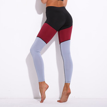 Women Sexy sport stitching Elastic gym Pants Sportswear Slim Running Tights jogging femme Fitness clothing Yoga leggings цена в Москве и Питере