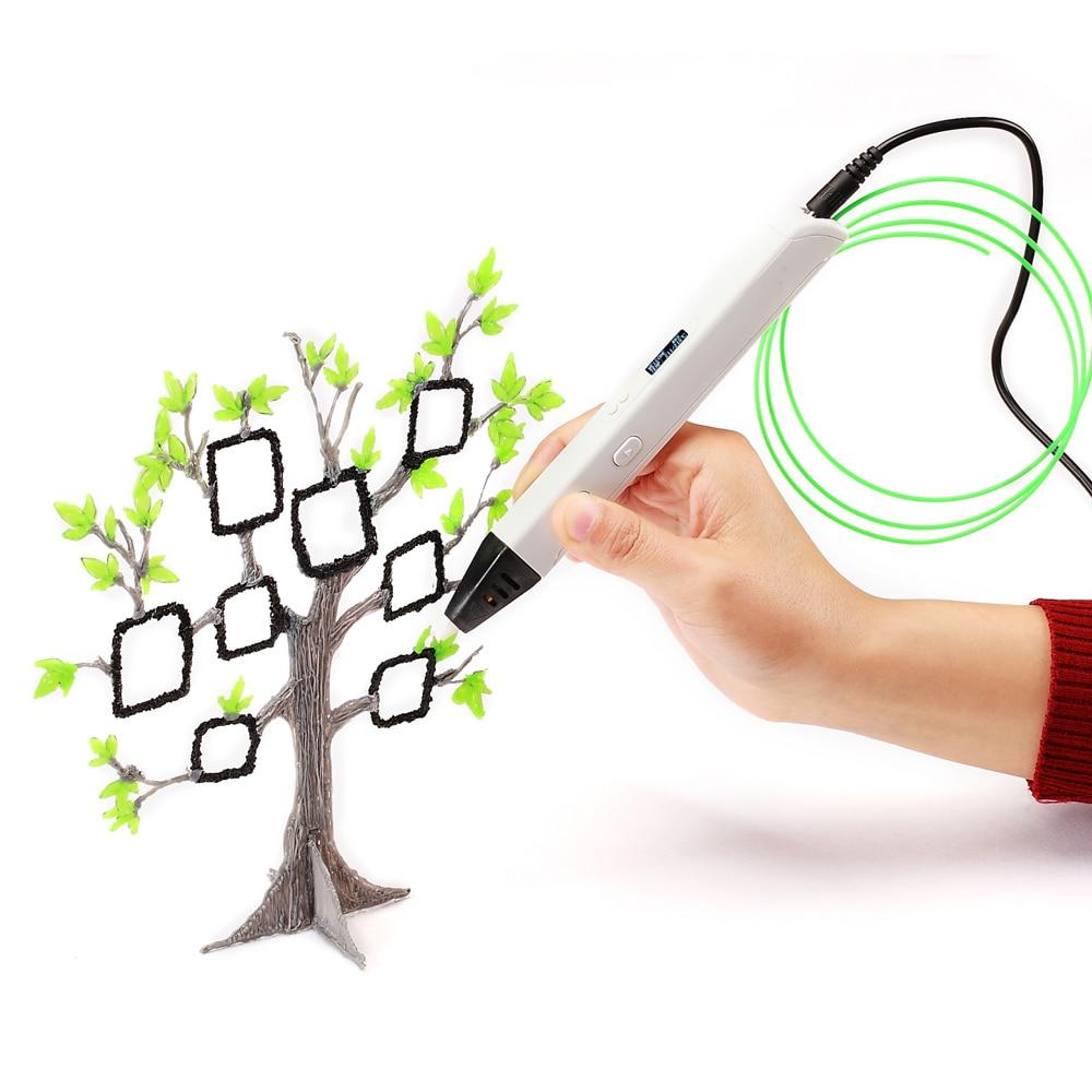 Stylo 3D d'impression professionnelle de RP800A 3D avec le stylo de dessin de la génération 3D d'affichage d'oled pour la fabrication et l'éducation d'artisanat d'art de Doodling
