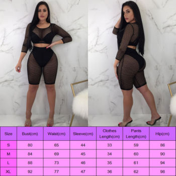 2-Piece Fishnet Crop & Bikers 1