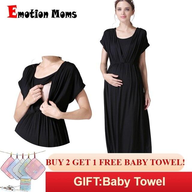 840b28c144d6 Emotion Moms Summer Maternity nursing Dress Breastfeeding Dresses for Pregnant  Women Maternity Clothes V-Neck Pregnancy Dress