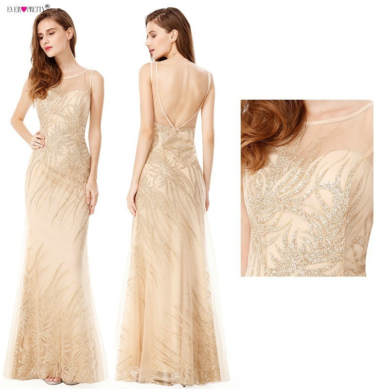 Sexy Prom Dresses Long 2019 Ever Pretty Sequin Sparkle Sleeveless Beading Backless Mermaid Beading Women's Vestidos De Gala-in Prom Dresses from Weddings & Events    1