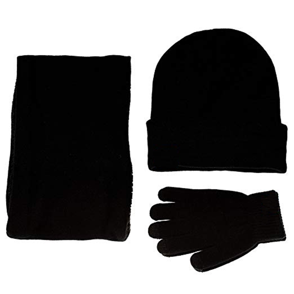 Analytisch Winter Warm Beanie Hut + Schal + Touch Screen Handschuhe, Unisex Thermische Winter Warme Gestrickte Beanie Hut Neck Handschuh Für Männer Frauen B Up-To-Date-Styling