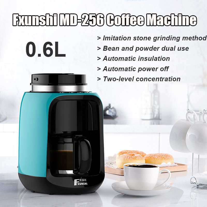0.6L 220V Automatic Coffee Machines Home Office American Electric Coffee Maker Bean Filter 600W For Fxunshi MD-256 230*170*280mm0.6L 220V Automatic Coffee Machines Home Office American Electric Coffee Maker Bean Filter 600W For Fxunshi MD-256 230*170*280mm
