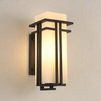 Уличный настенный светильник простой китайский водостойкий наружный настенный садовый светильник проход наружная терраса/патио Прихожая
