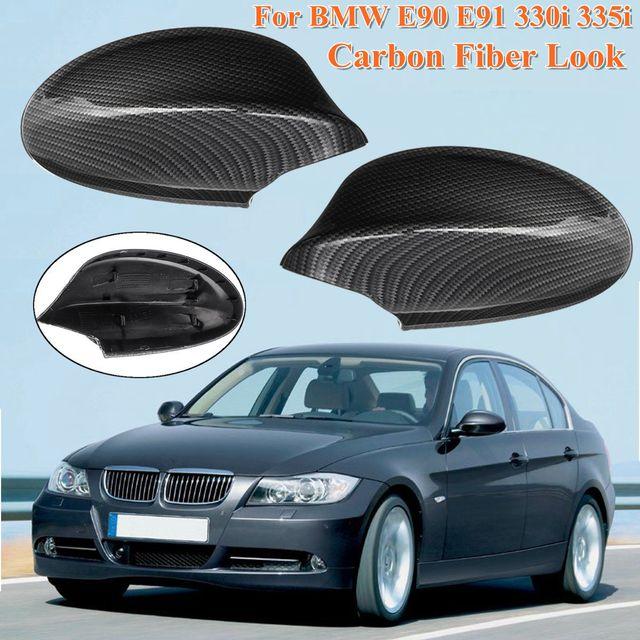 For Bmw E90 E91 330i 335i 2005 2006 2007 51167135097 Car Abs Black Carbon Fiber Pattern