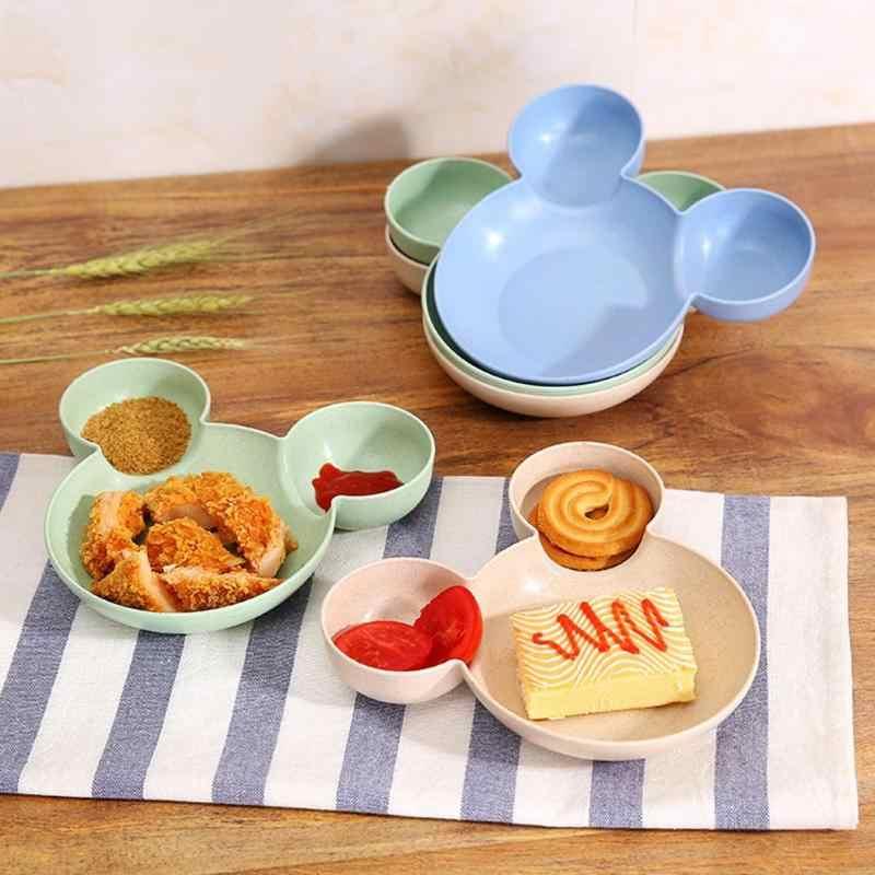Rato dos desenhos animados Caixa de Almoço Criança Infantil Do Bebê De Alimentação De Arroz Tigela Talheres Taças Verdes Bebê Gosta Criativo Resistente Tigela para Crianças