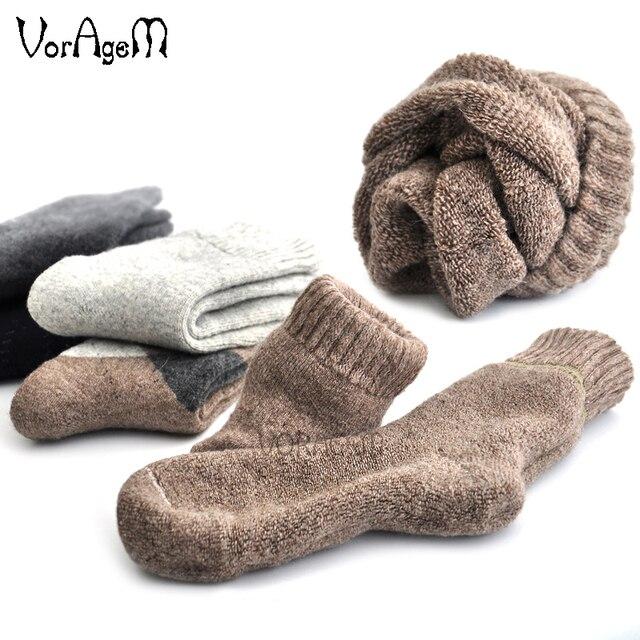 0be8679e022 US $14.06 26% OFF|Winter mannen Super dikke kasjmier wollen sokken hoge  kwaliteit klassieke zakelijke merk man sokken mannen casual sokken winter 3  ...