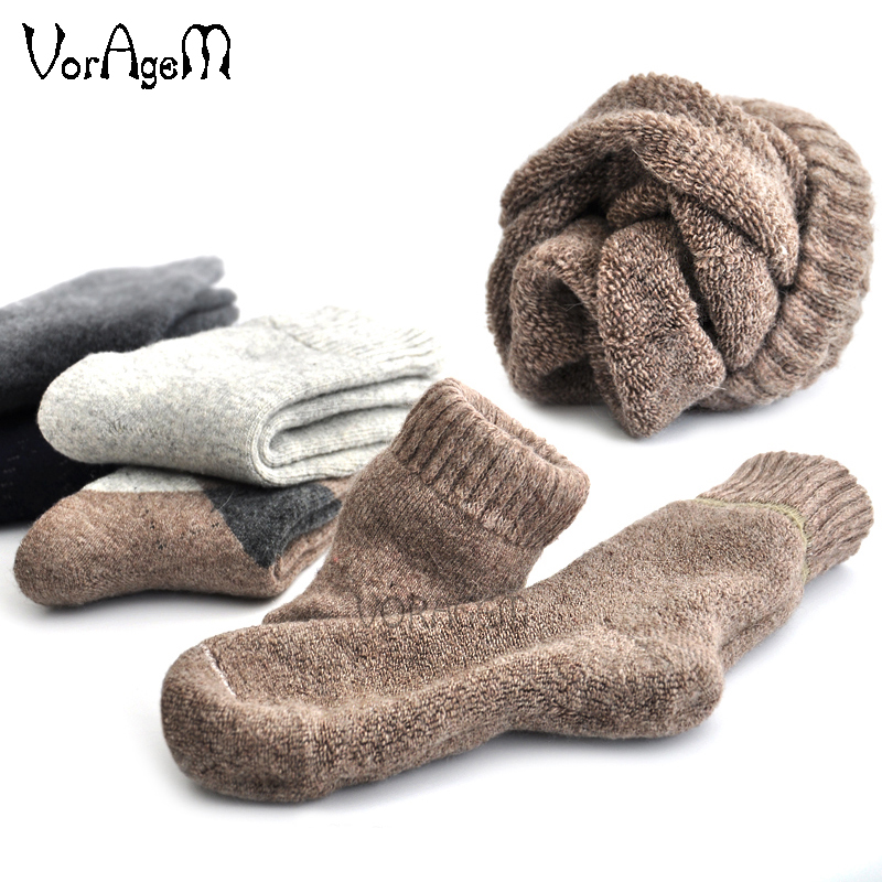 Winter Herren Super dicke Kaschmir Wolle Socken hochwertige klassische Business-Marke Mann Socken Herren Casual Socken Winter 3 Paar = 1lot