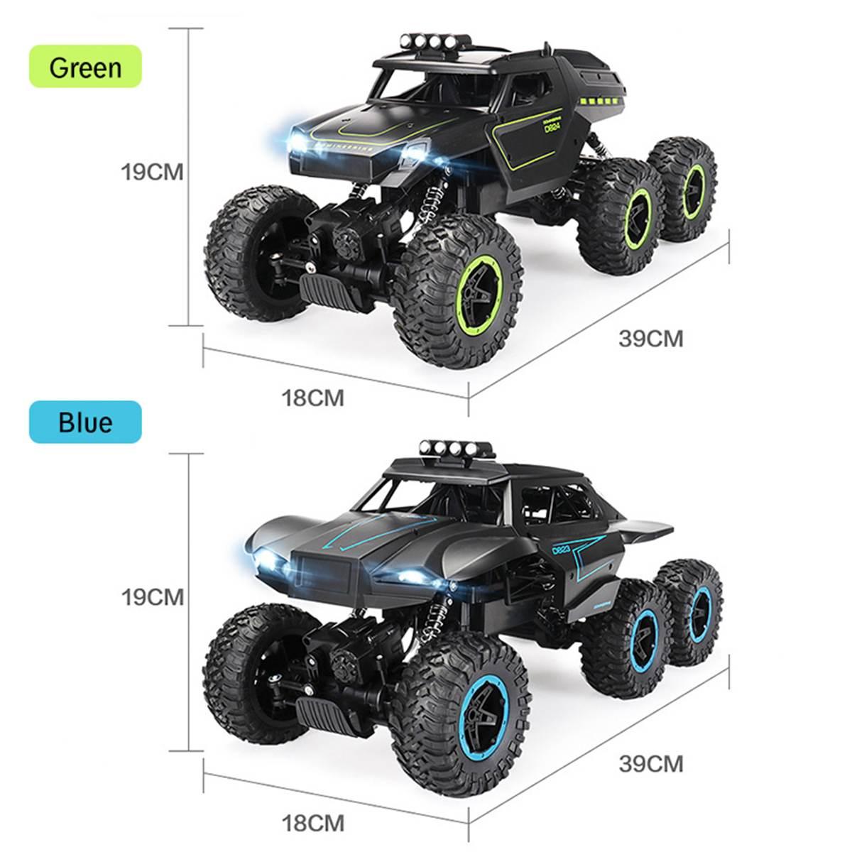 1/12 6WD tout-terrain voiture lecteur grimpeur avec échelle de phare 2.4 GHz RC camion jouet cadeau de noël pour enfants et adultes - 6
