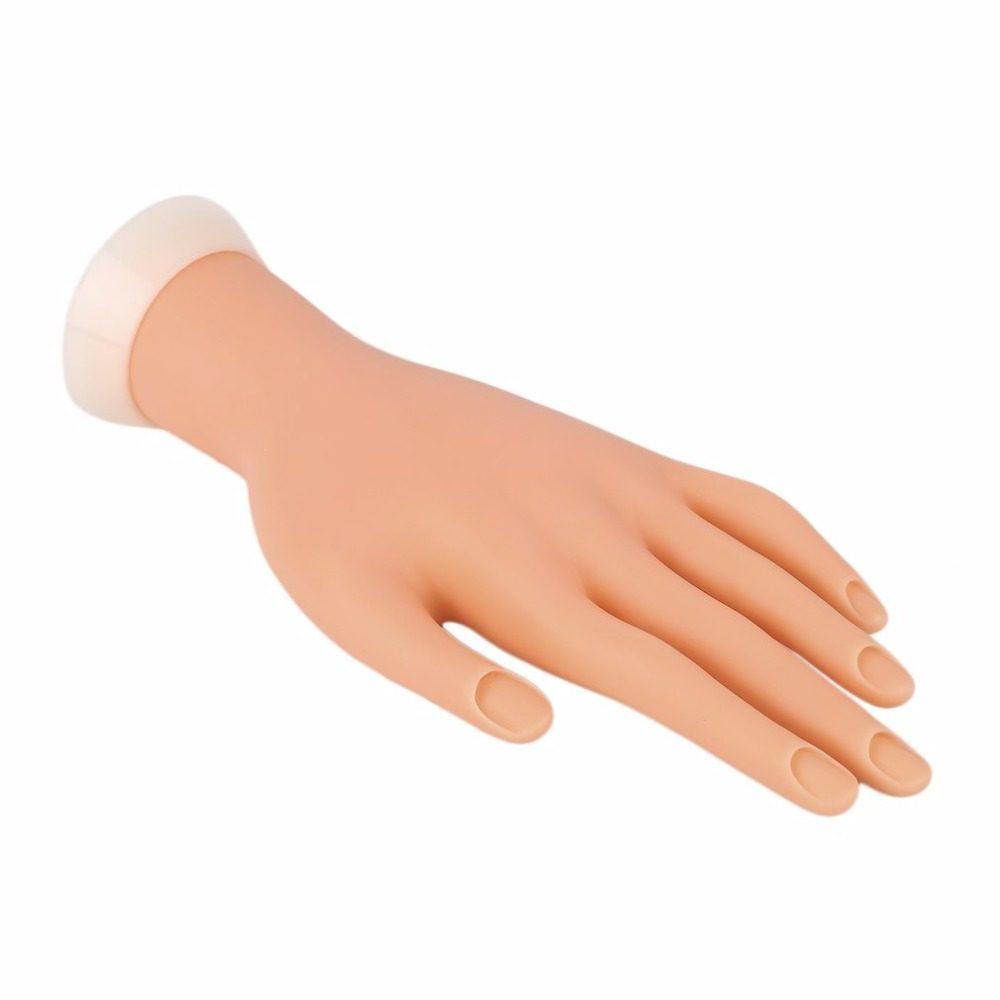 1 Pcs Flexível Mão Prática Plástico Macio Nail Art Falso Formação Prática Mão Modelo DIY Manicure Ferramenta Prego
