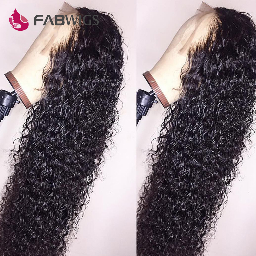 Fabwigs Full Lace Wig Brazilian Curly Full Lace Human Hair Wigs with Baby Hair Remy Pre Plucked Lace Wigs For Black Women-in Human Hair Lace Wigs from Hair Extensions & Wigs    3