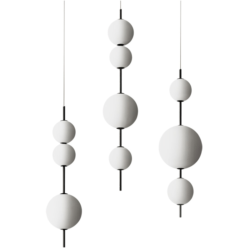 Modern Simple LED glass ball pendant lights for living room kitchen hanging lights Individual dinning Bedroom bar light fixtures in Pendant Lights from Lights Lighting