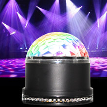 15W Club Mini Sound Activated Decorations Led Party Bar Ball Lamp Disco RGB Projector Colorful Stage Light
