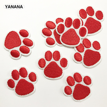 1 PCS Claw paw Embroidered Patches for Clothing DIY Stripes Applique Clothes Stickers Iron on Badges russia logo letter embroidered patches for clothing diy stripes applique clothes stickers iron on creative badges biker parches