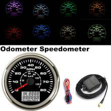 9-32V Car Truck Motor Auto GPS Speedometer ODO Dashboard Gauge 7 Colors Backlight Screw Fastening Design for Boat Gauges