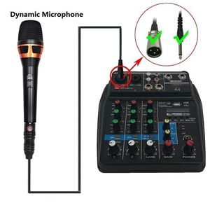 Image 2 - Eu Plug A4 Sound Mixing Console Bluetooth Usb Record Computer Playback 48V Phantom Power Delay Repaeat Effect 4 Channels Usb A