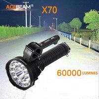 2018 New Acebeam X70 12 Cree XHP70.2 and a Cree XHP35 HI chip 60000 lumens with 1115metre beam flashlight