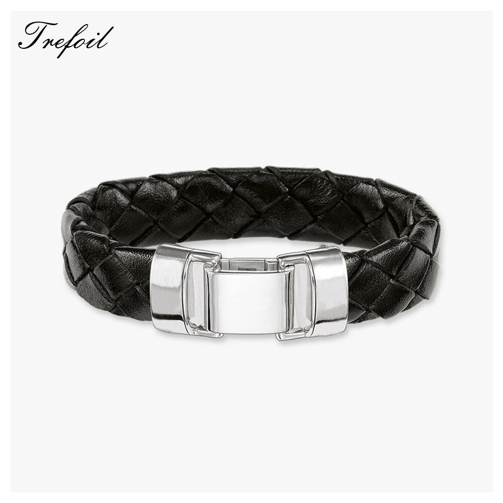 Cuff Bracelet Woven Leather...
