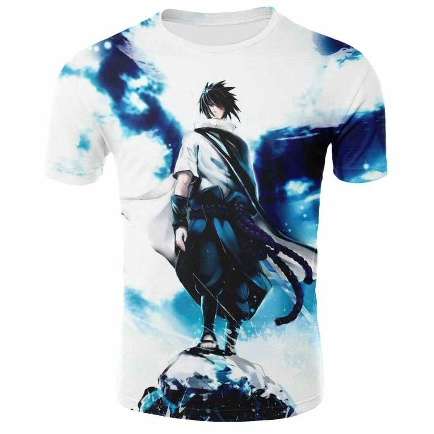 a6e5387f7 ... Summer brand clothing men / women's T-shirt anime characters Naruto  Sasuke 3D printing cartoon ...