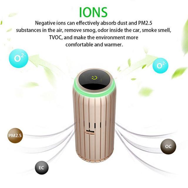Car Air Purifier Negative Oxygen Car Purification Odor Formaldehyde PM2.5 Removal