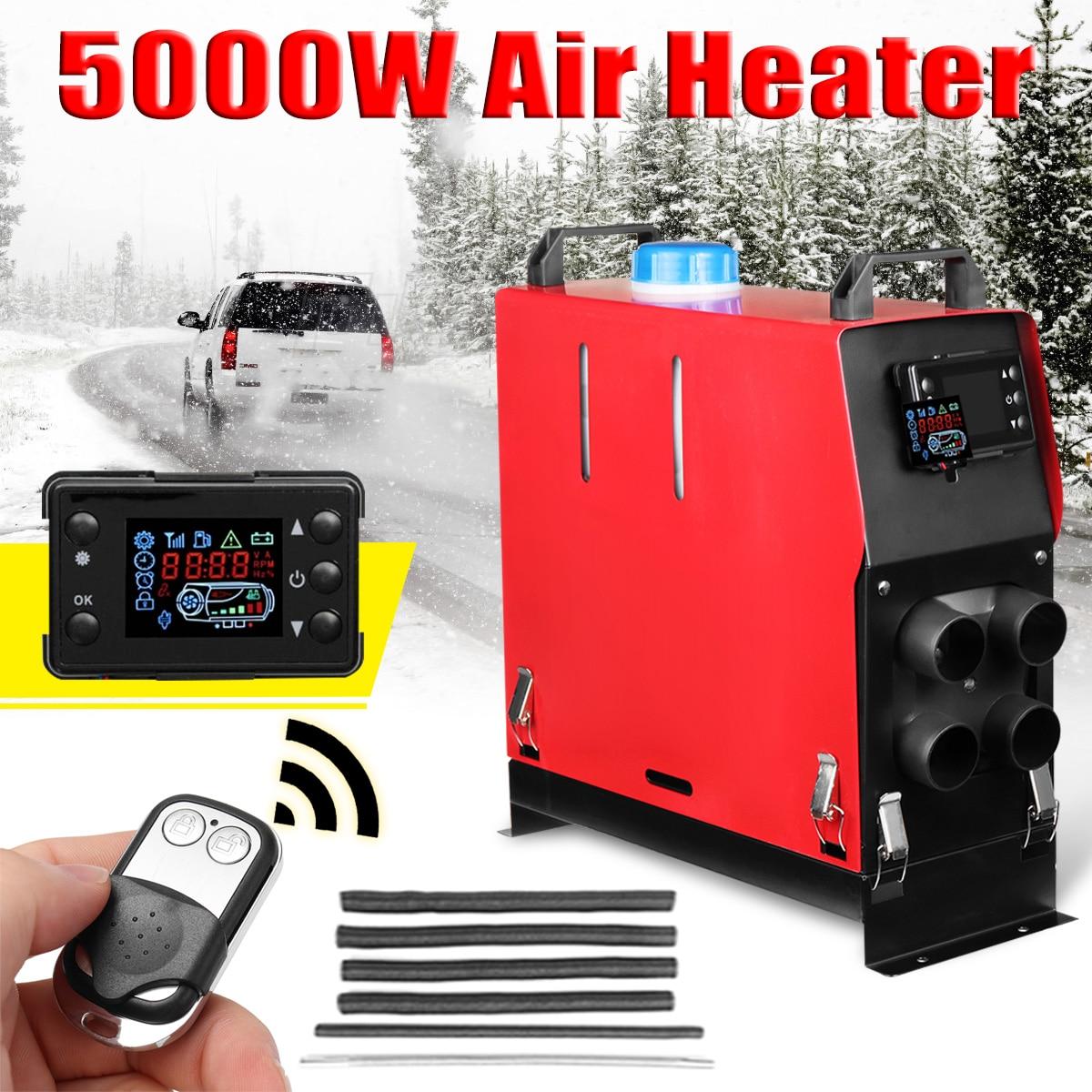 Все в одном 5000 Вт воздушные Дизели стояночный обогреватель 5 кВт 12 в автомобильный обогреватель для грузовиков моторные дома лодки Автобус +...