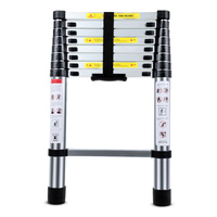 2.6m Multifunctional Portable Aluminium Alloy Telescopic Non Slip Folding Enterprises Families Telecommunications Ladder